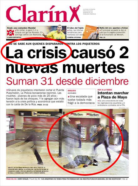 La crisis bonaerense fusila a dos manifestantes en la estación Avellaneda.