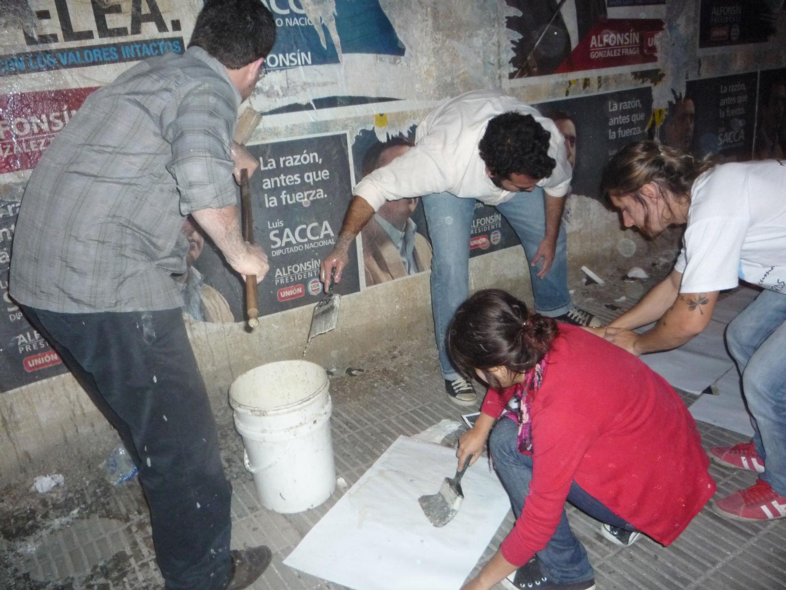 Pegatina en Tucumán