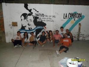 Nuevo mural en Luis Guillon por La Cámpora Esteban Echeverría