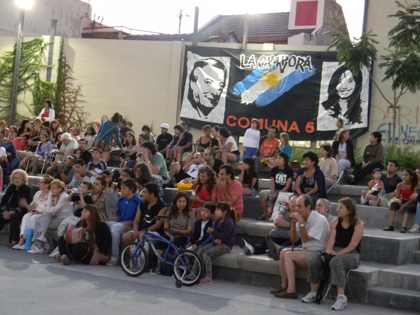 Cine nacional a cielo abierto en Plaza Boedo
