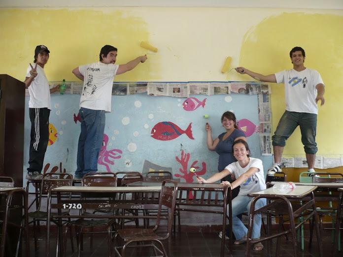 Pintada escuela Las Heras 8