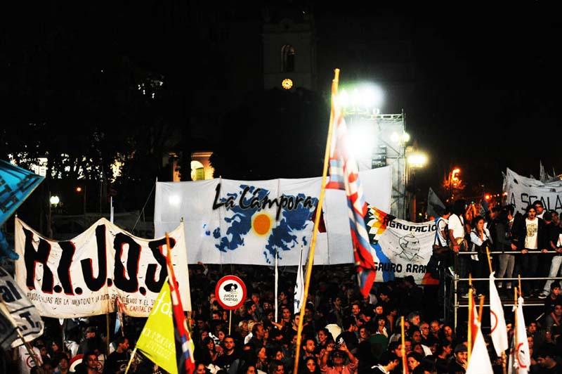 Marcha a 36 años del golpe de Estado