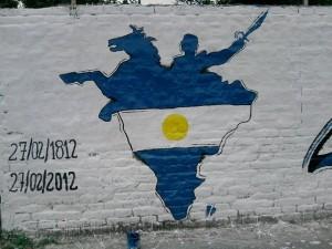 La Cámpora Ituzaingó pinta un nuevo mural