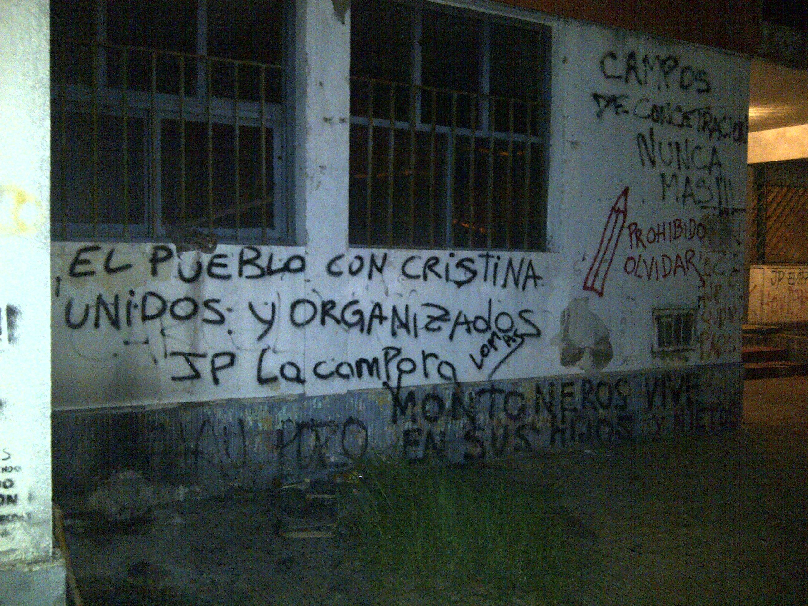 Pintadas en Lomas de Zamora, Buenos Aires.