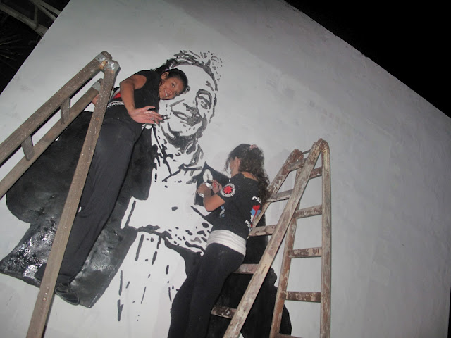 Mural homenaje a Néstor Kirchner en la Comuna 12