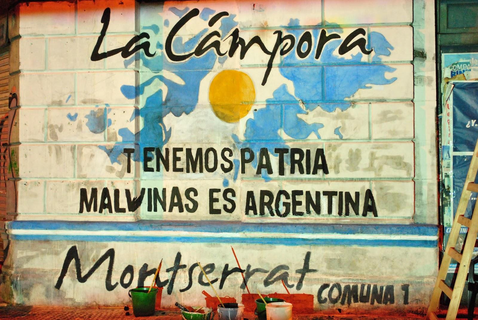 Mural y radio abierta por Malvinas en Montserrat