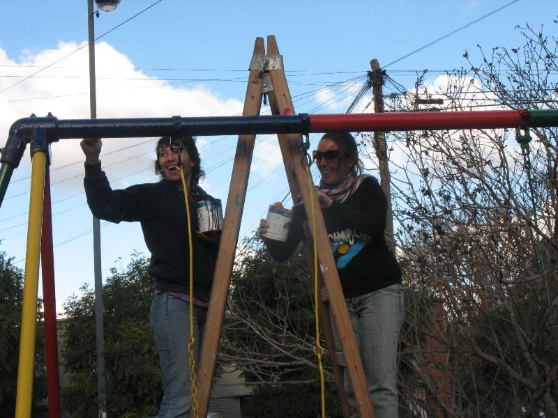 Arreglos en plaza Hipólito Yrigoyen