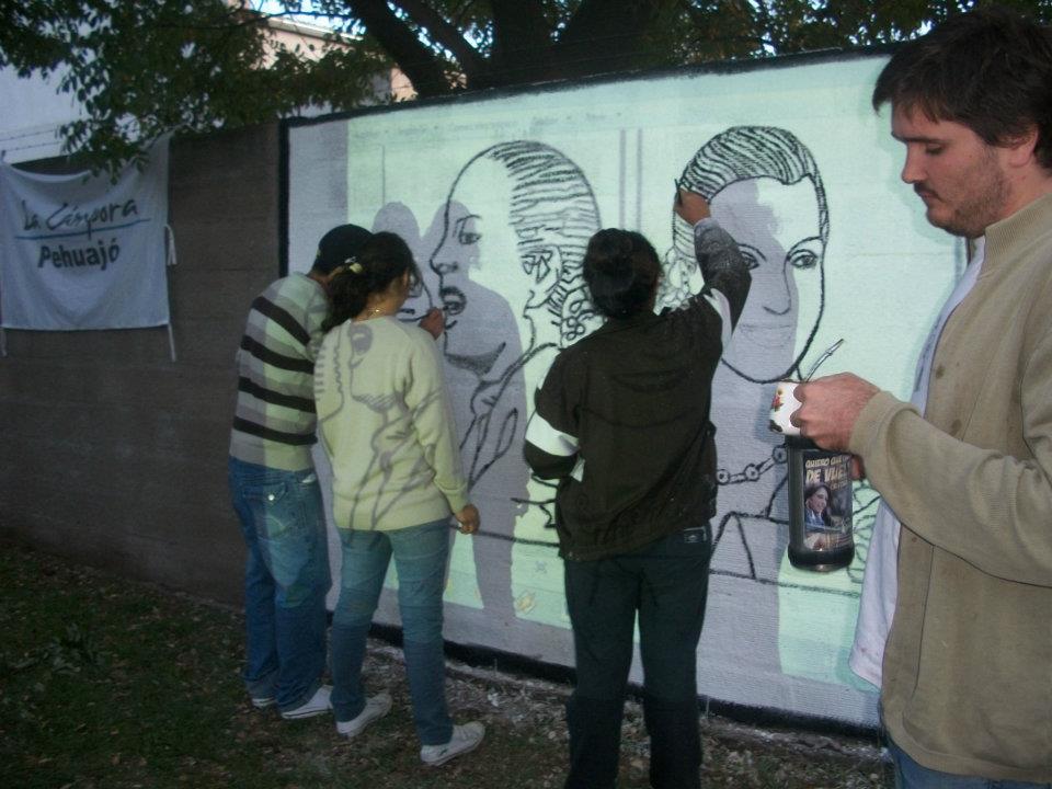 Mural de Evita en Pehuajó