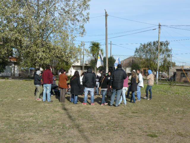 Relevamiento de La Cámpora Marcos Paz en El Zorzal
