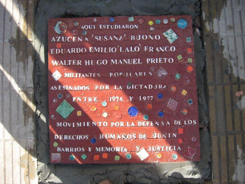 La Cámpora Junín acompañando el homenaje