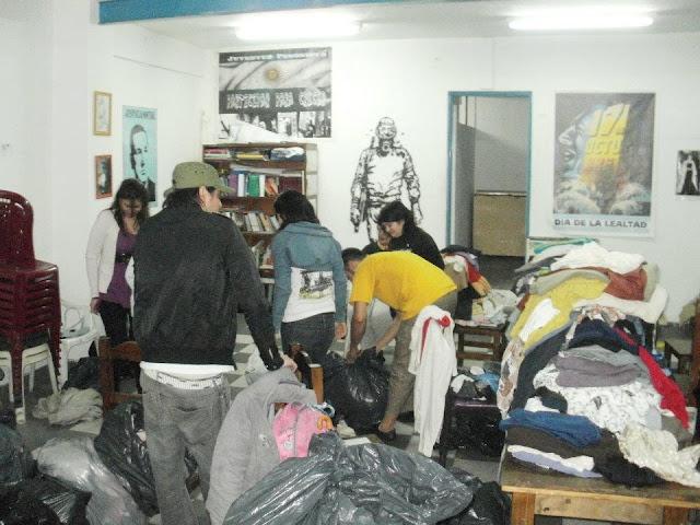 La militancia acompaña a las familias de La Boca