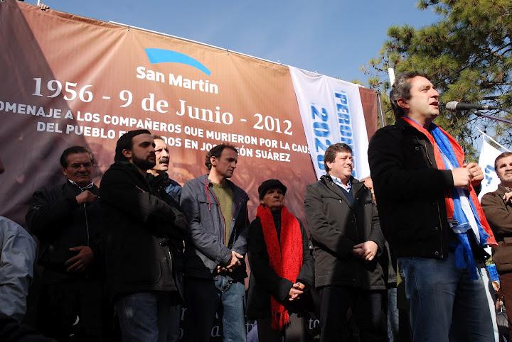 Homenaje a los fusilados en José León Suárez