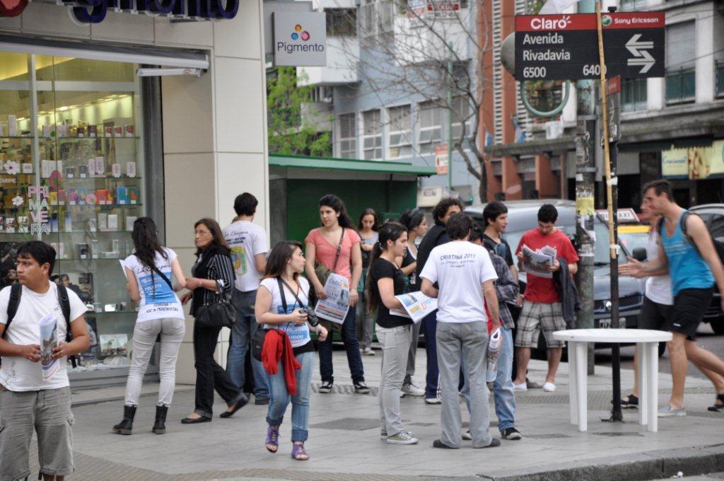 Volanteada en la Ciudad de Buenos Aires