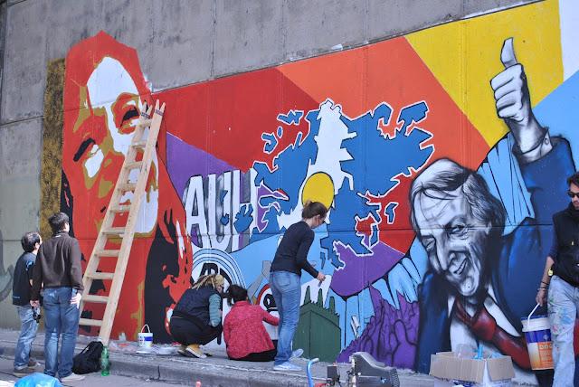 Gran mural en el Mercado Central