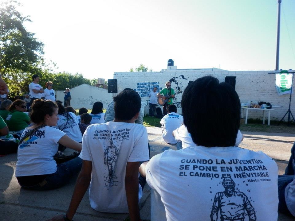 La Pampa homenaje de la juventud