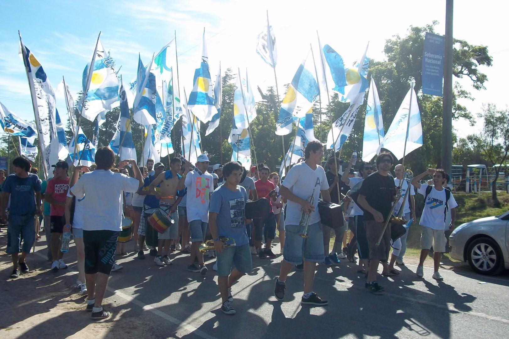 La militancia junto a Cristina en San Pedro