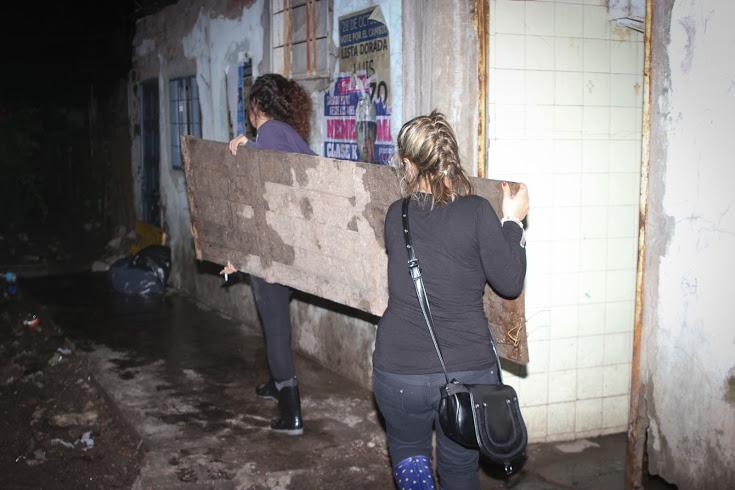 Larroque y Cabandié se hicieron presentes en los barrios más afectados por el temporal