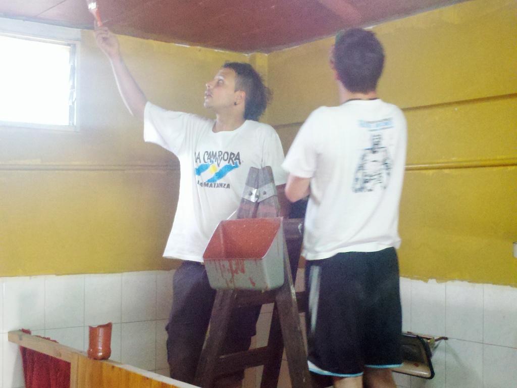 Jornada solidaria en un centro de jubilados de La Matanza