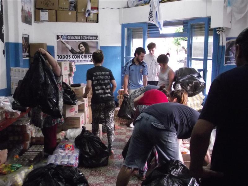 Clasificación de donaciones en Ramos Mejía, La Matanza