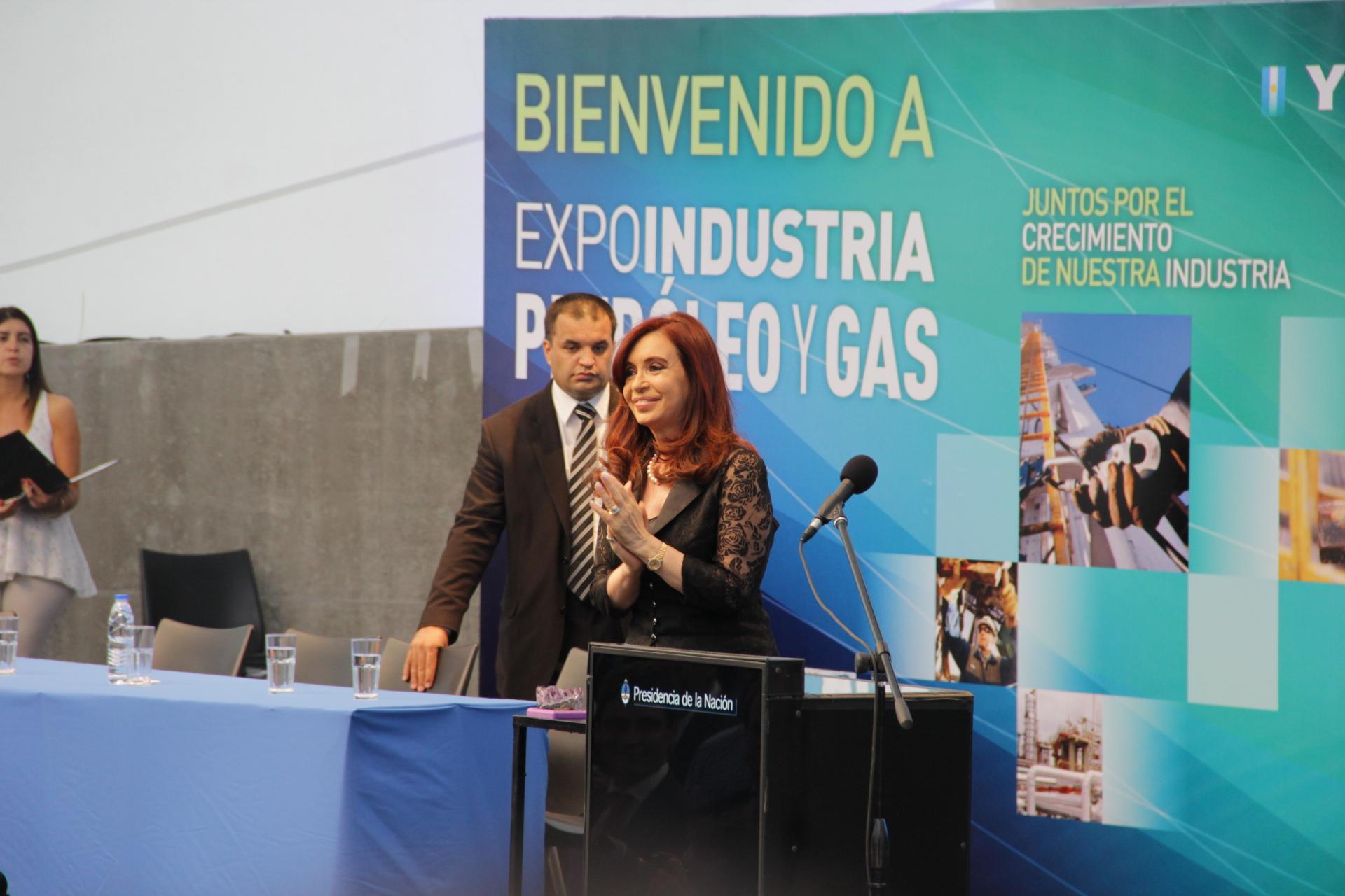 Junto a Cristina en Tecnópolis