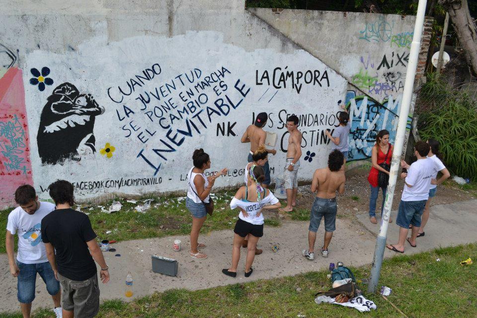 Los secundarios con Cristina en Vicente López