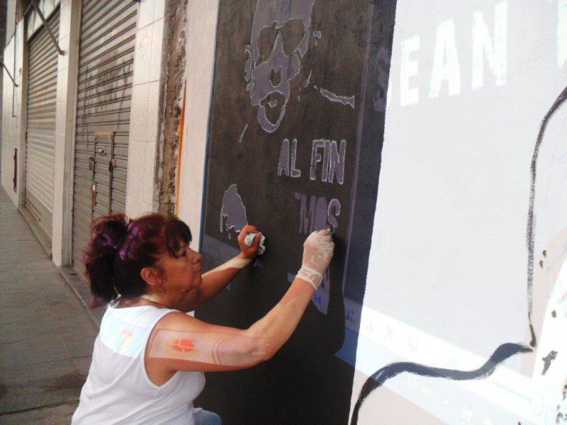Mural en Isidro Casanova por La Cámpora Matanza