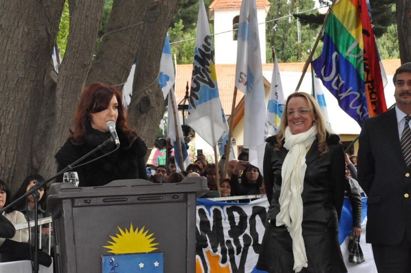 Junto a Cristina en El Calafate