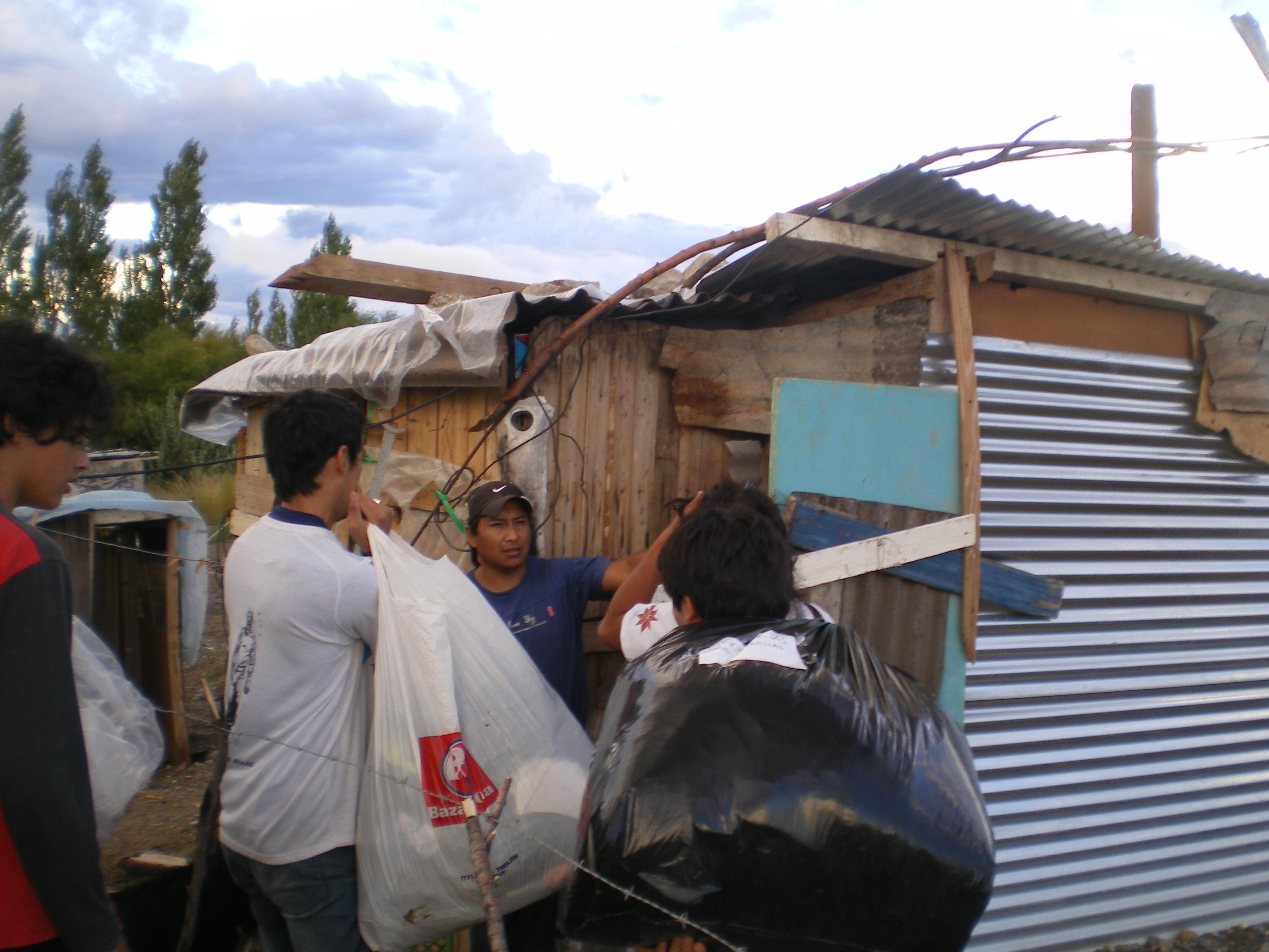 Chubut: Jornada solidaria después del temporal