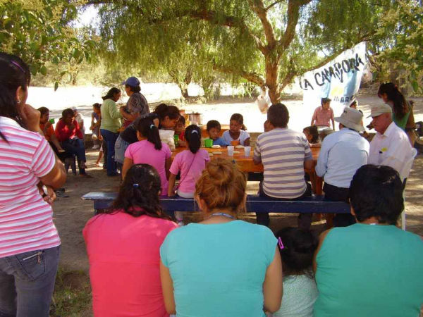 Actividad solidaria en Santa Maria