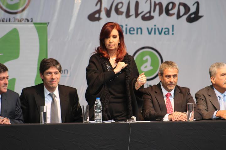 Acompañando a Cristina en Avellaneda