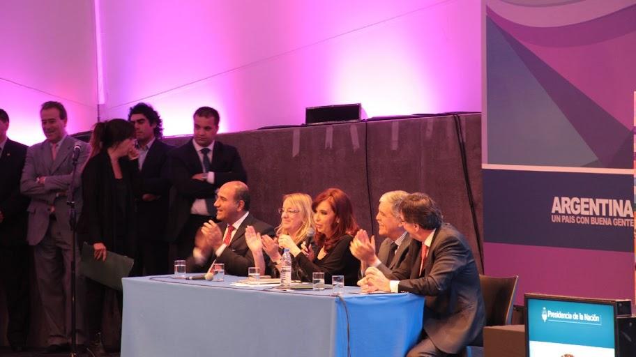 Cristina presentó el programa Ellas Hacen en Tecnópolis