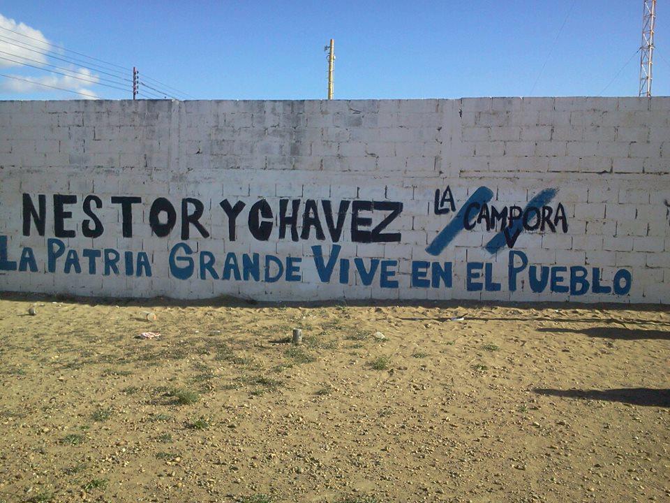 Recordando al comandante enel barrio San Julián, Santa Cruz