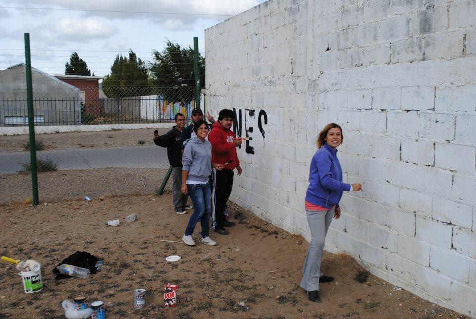 Recordando al comandante en el barrio San Julián, Santa Cruz