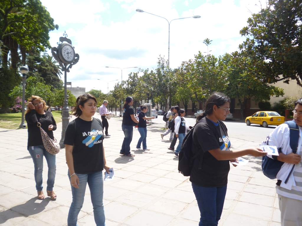 Jujuy difunde conciencia por que Nunca Más se repita la historia
