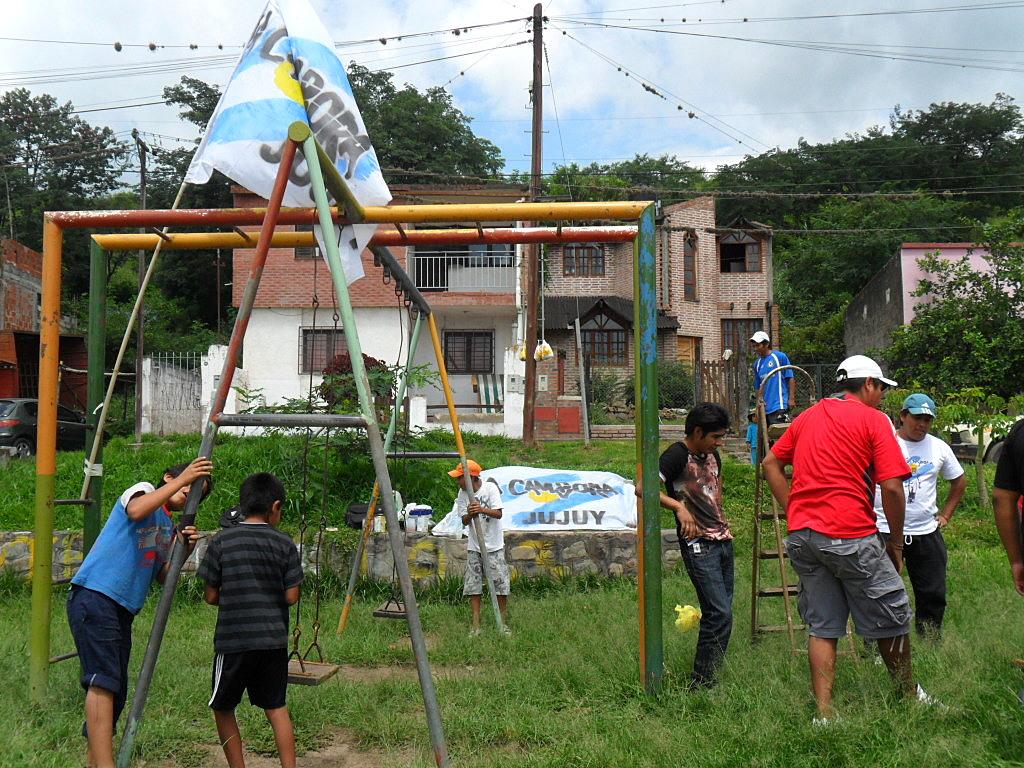 Jujuy: Mejora de Plazas y Parques en una nueva Jornada solidaria