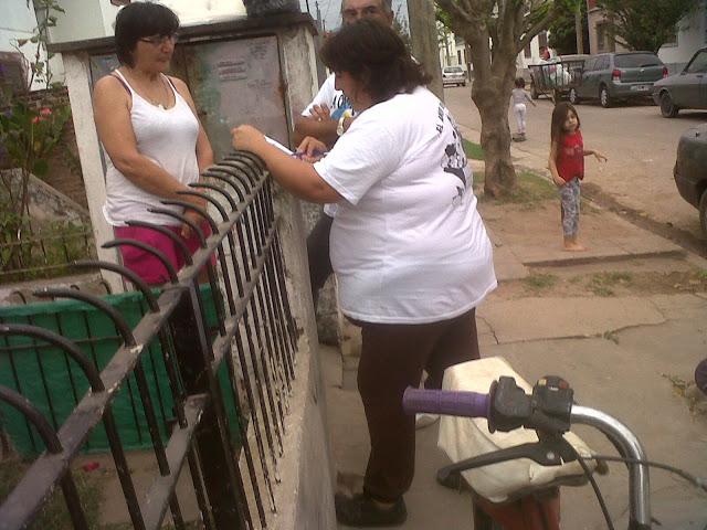 Abordaje territorial en el barrio Perón de San Antonio de Areco