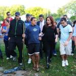 Télam Buenos Aires 03/04/2013La presidenta Cristina Fernández de Kirchner visitó hoy a familias del barrio Mitre de la Ciudad afectadas por las trágicas inundaciones.Foto: Florencia Downes/Télam/jcp