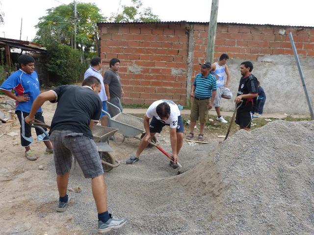 Jornada de trabajo en Villa Azul en Avellaneda