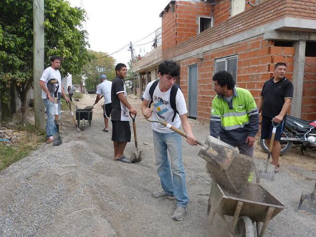 Jornada de trabajo en Villa Azul, Avellaneda
