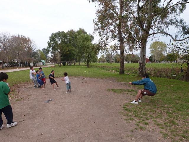 Jornada recreativa en el barrio 19 de Febrero, 80 y 120 bis, La Plata