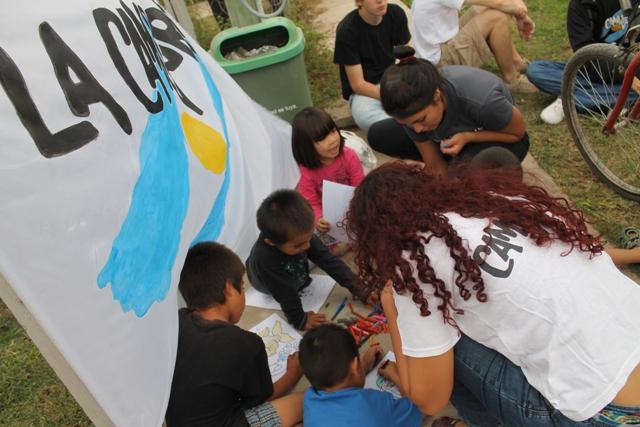 Jornada recreativa en el barrio El Prado de Marcos Paz
