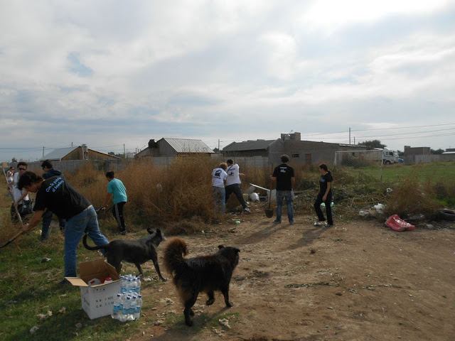 Limpieza en el barrio Duprat de Bahía Blanca