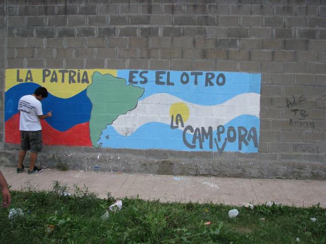 Mural en el barrio Barrufaldi de San Miguel