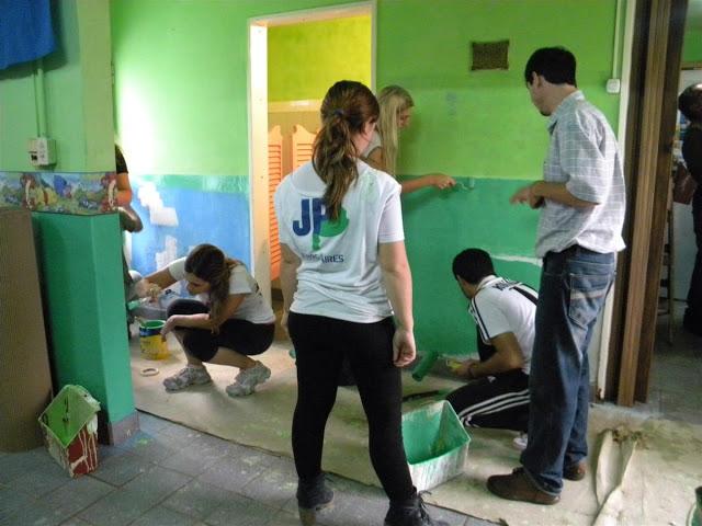 Pintada de club en el barrio San Cayetano de Chacabuco