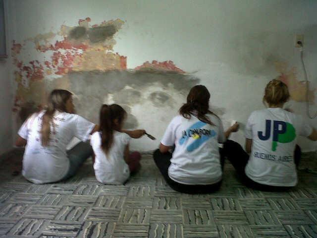 Pintada de la Casa de la Cultura en San Andrés de Giles