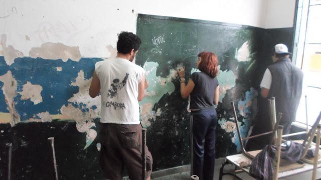 Pintada de la Escuela Nº2 de Villa Libertador, Ituzaingó