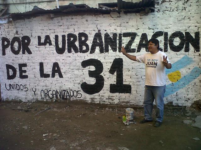 """""""La Patria es el otro"""" en la Villa 31"""