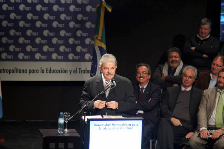 Cristina y Lula en la inauguración de la Universidad para la Educación y el Trabajo