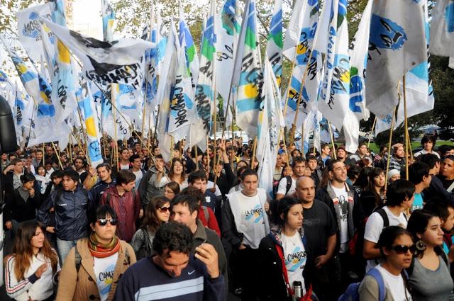 La militancia junto a Cristina en La Plata