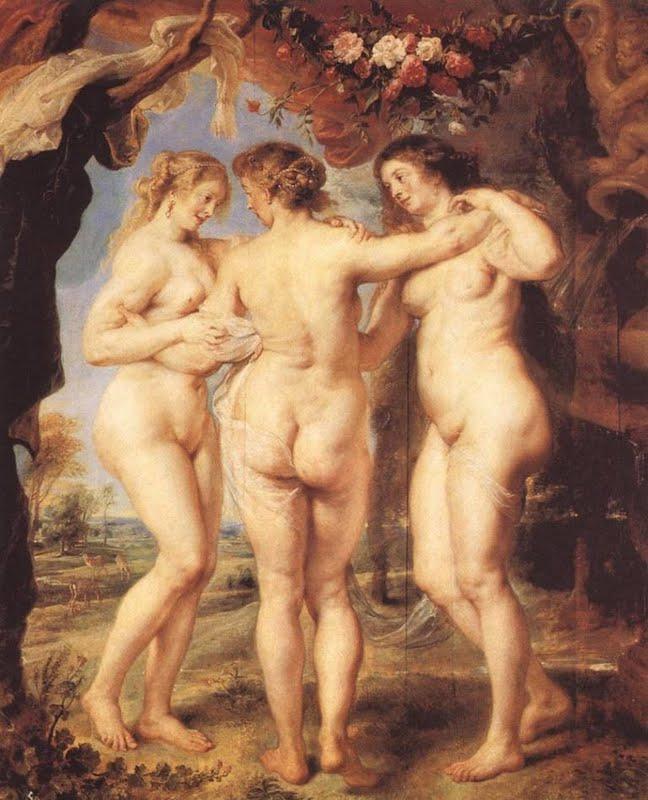 Rafael-Sanzio-Pintura-Renacentista-Desnudos-femeninos-Clasicos